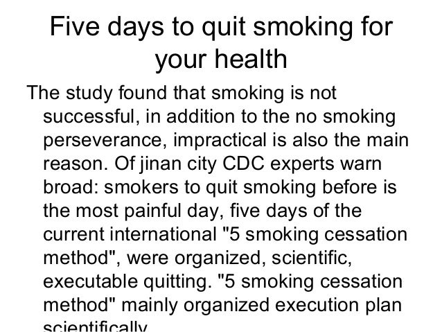 And Even 3 Five Days To Quit Sm Ng