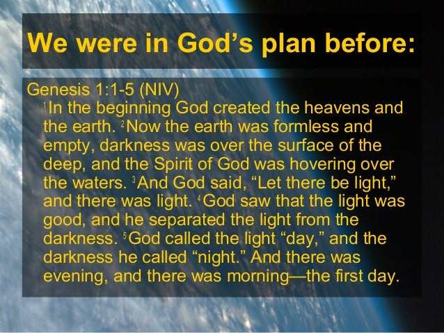 Image result for Genesis 1:1-5