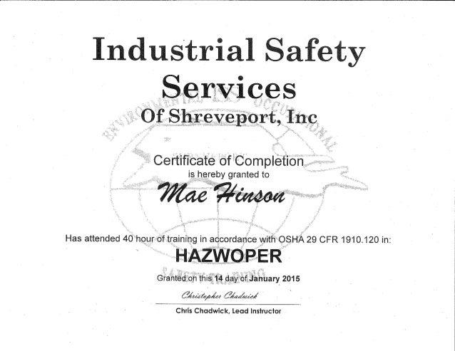 HAZWOPER Certification