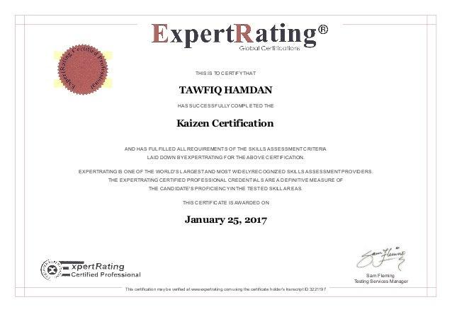 Kaizen Certification