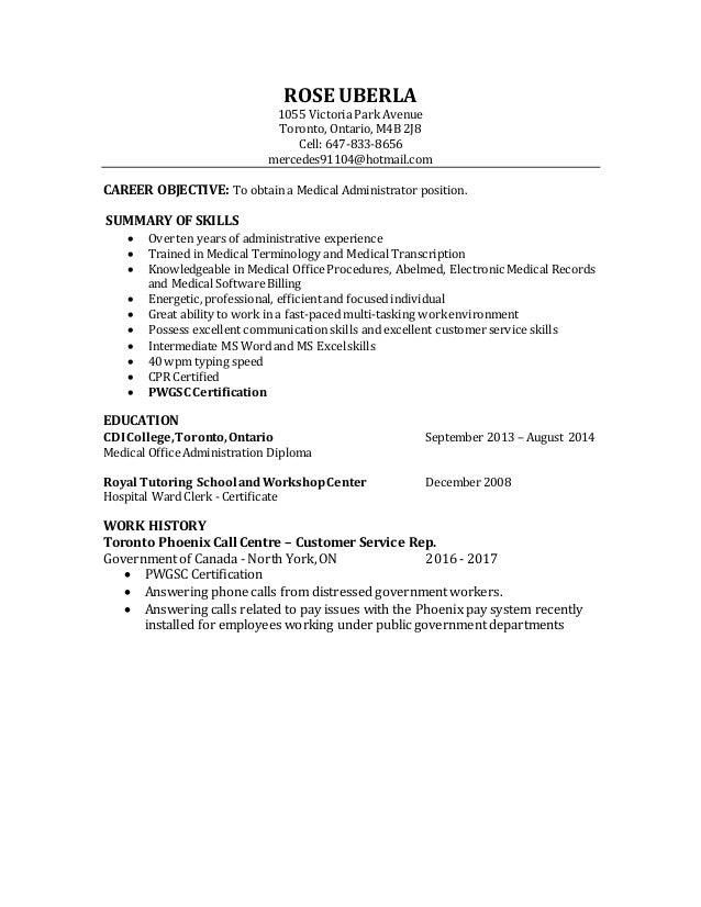 Newest Resume Medical Administrator