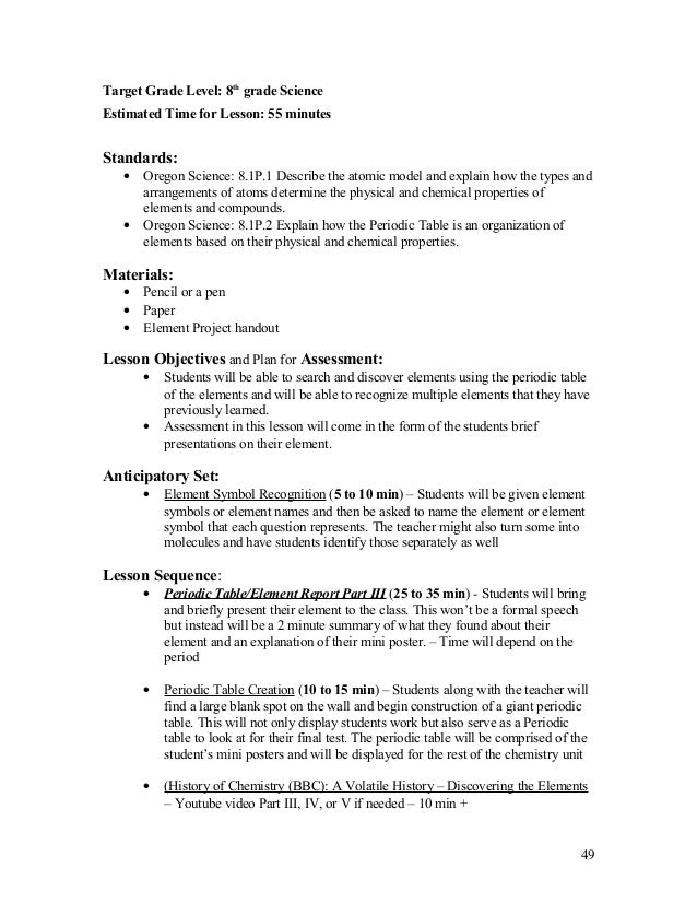 periodic table of the elements 48 49 - Periodic Table Lesson Plan Objectives