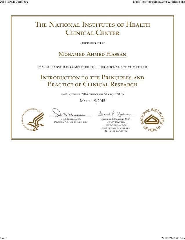 2014 Ippcr Certificate