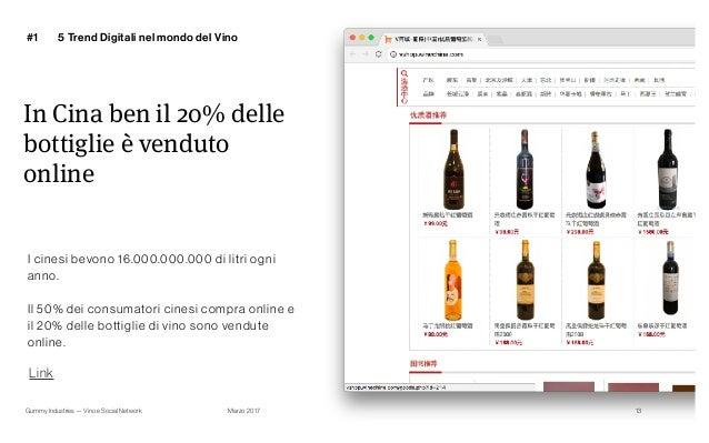 Gummy Industries — Vino e Social Network Marzo 2017 In Cina ben il 20% delle bottiglie è venduto online #1 13 Link I cines...
