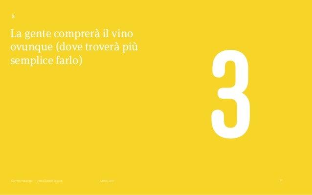Gummy Industries — Vino e Social Network Marzo 2017 La gente comprerà il vino ovunque (dove troverà più semplice farlo) 3 ...