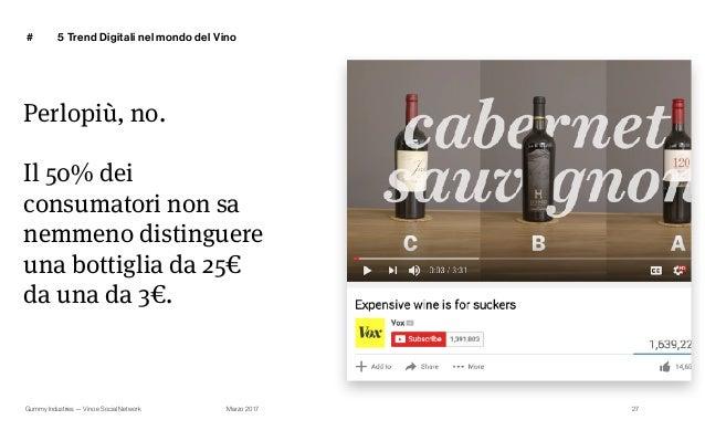 Gummy Industries — Vino e Social Network Marzo 2017 # 27 Perlopiù, no. Il 50% dei consumatori non sa nemmeno distinguere u...