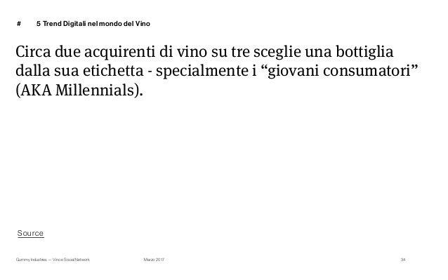 Gummy Industries — Vino e Social Network Marzo 2017 # Circa due acquirenti di vino su tre sceglie una bottiglia dalla sua ...