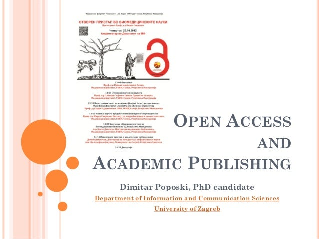 OPEN ACCESS                ANDACADEMIC PUBLISHING       Dimitar Poposki, PhD candidateDepartment of Information and Commun...