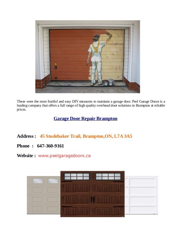 5 diy tips for maintenance a garage door repair brampton 4 these were the most fruitful and easy diy solutioingenieria Choice Image