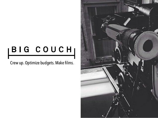 Crew up. Optimize budgets. Make films.