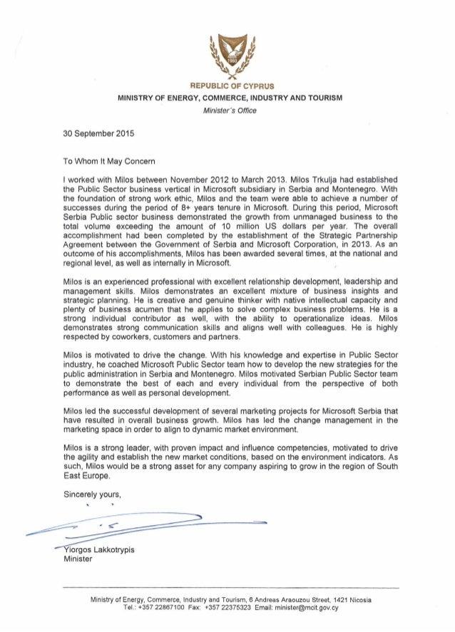 Letter of recommedationmilostrkulja spiritdancerdesigns Gallery
