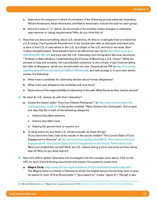 Global Citizenship HS 510 – Citizenship Worksheet