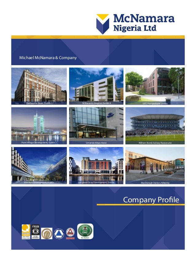 1 michael mcnamara company company profile point village development dublin 1 elm park development - Real Estate Profile Summary