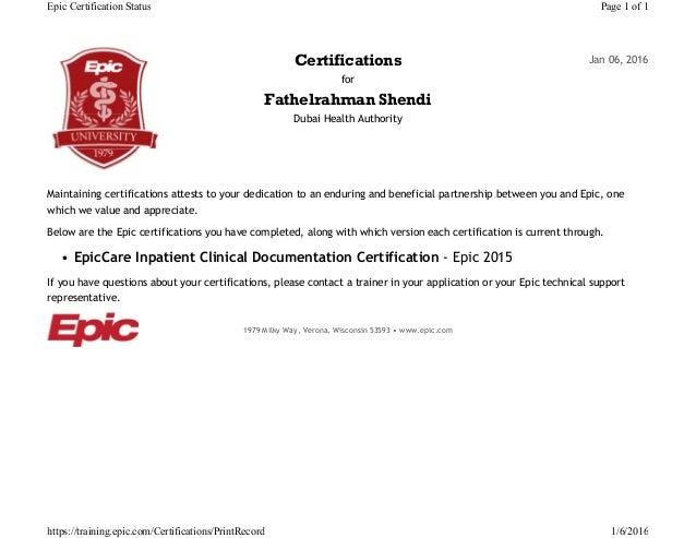epic shendi shandy inpatient certificate proxima