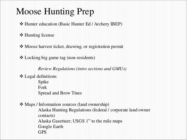 Moose hunting in alaska bow presentation 2016 for Sc non resident fishing license
