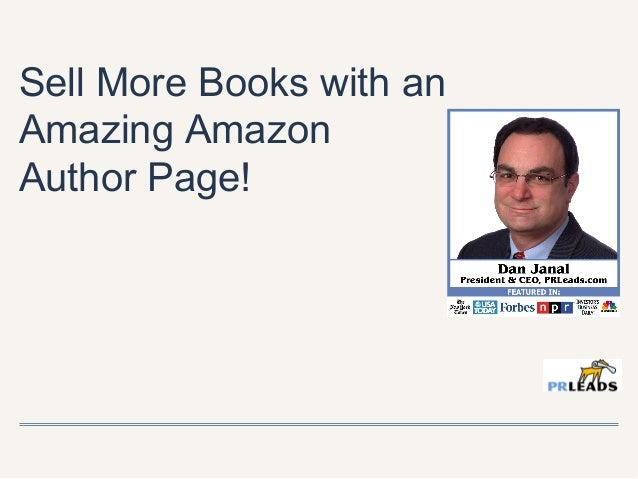 Sell More Books with an Amazing Amazon Author Page!