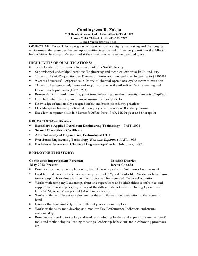 Funky Alberta Accounting Resume Component - Administrative Officer ...