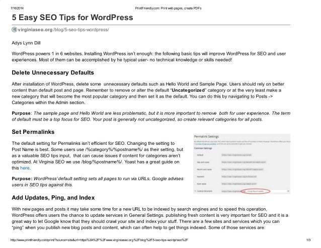 5 easy seo tips for word press