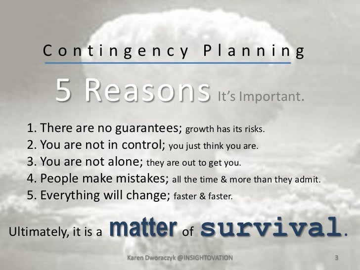 5 Easy Steps of Contingency Planning