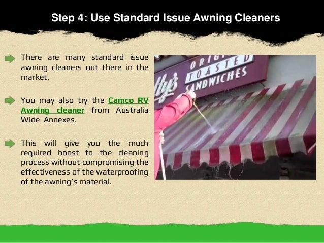5 Easy Steps To Clean Caravan Awnings