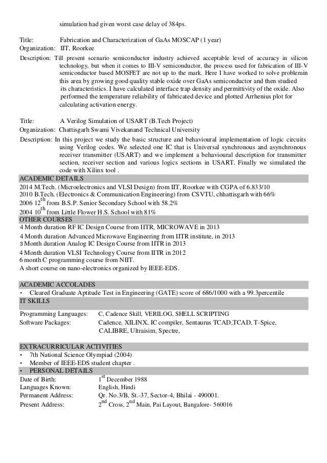 Doc engineer job resume rfic