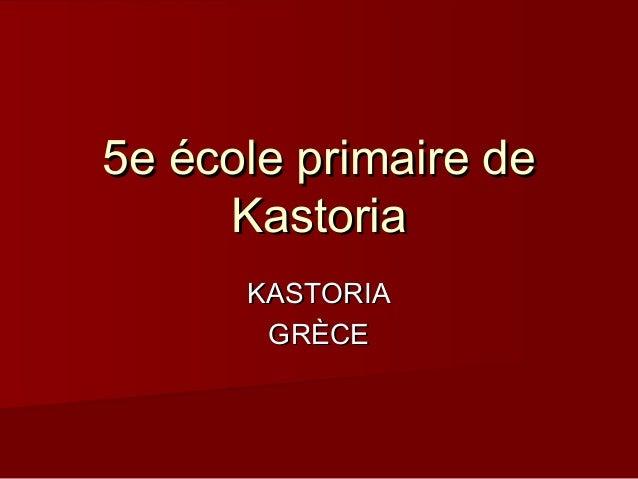 5e école primaire de Kastoria KASTORIA GRÈCE