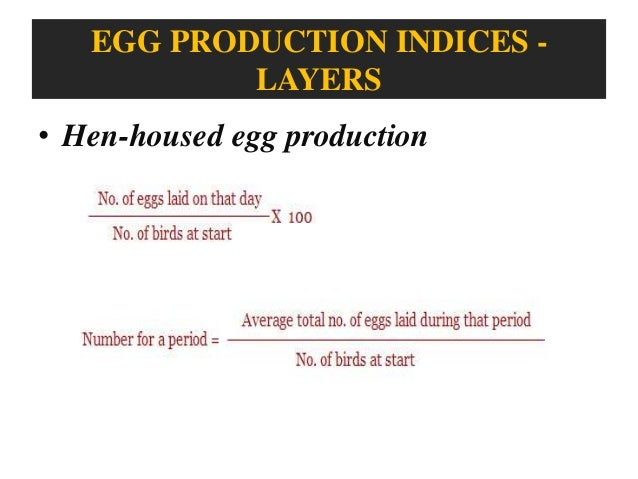 Economic traits of Broilers and layers