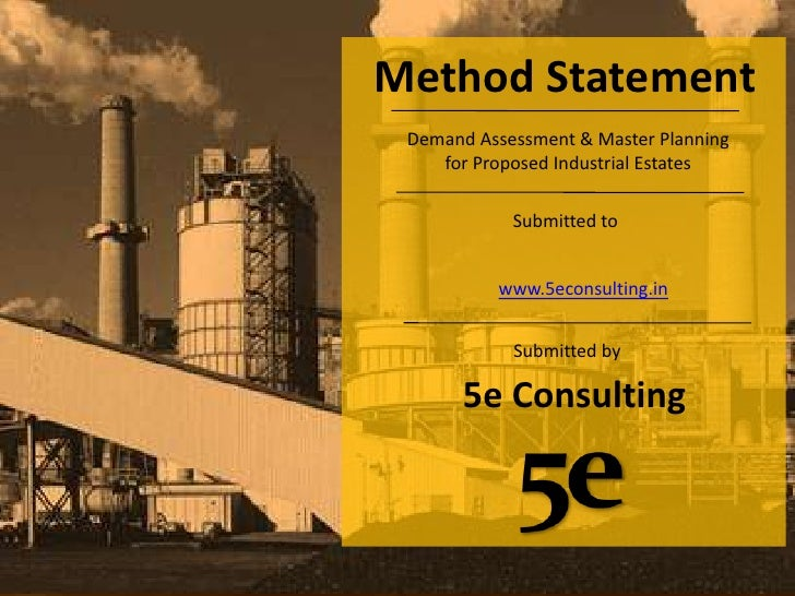 5e consulting demand assessment & master planning for proposed industrial estates