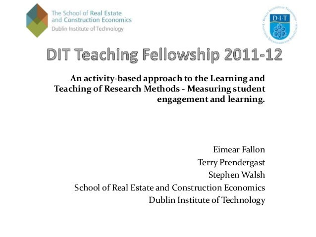 An activity-based approach to the Learning andTeaching of Research Methods - Measuring student                         eng...