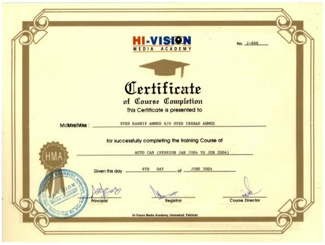 auto-cad certificate