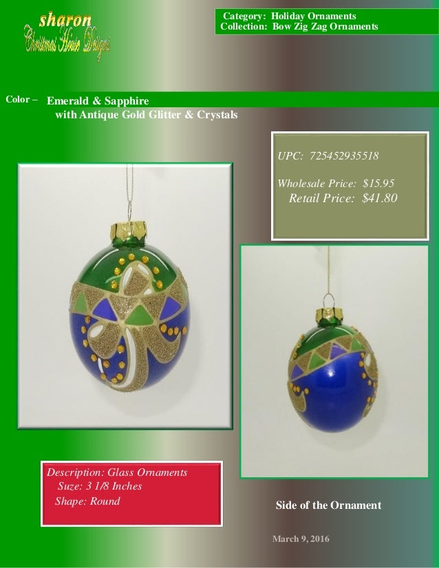 Sharon Christmas House Designs Catalog Bow Zig Zag Ornaments Who
