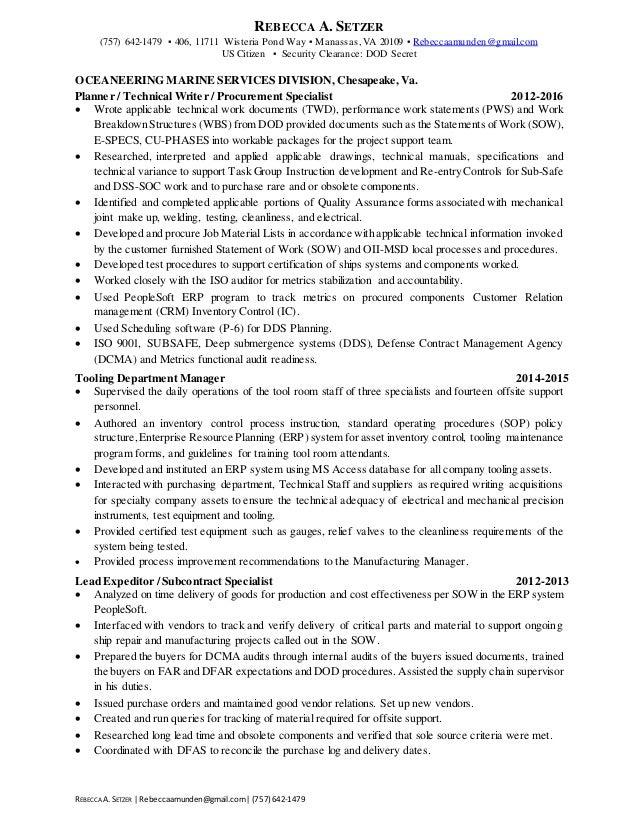 resume rebecca setzer procurement 2017
