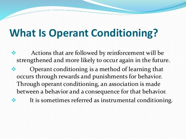 who invented operant conditioning