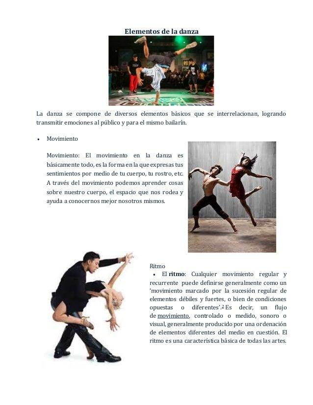 5 elementos de la danza