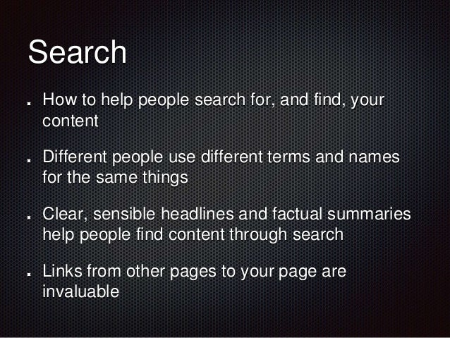 Creating intranet content Effective headlines Images Links Layout Search Writing Documents vs pages Engagement Channels Mo...