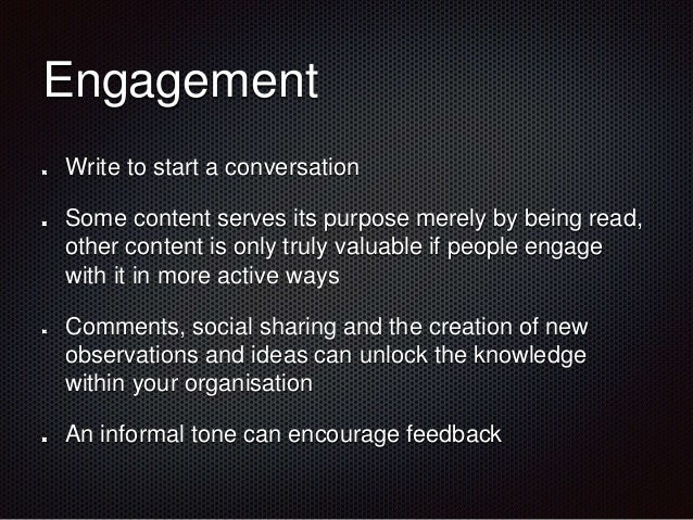 SmallWorlders Engagement Conference - Engaging Content by @Wedge