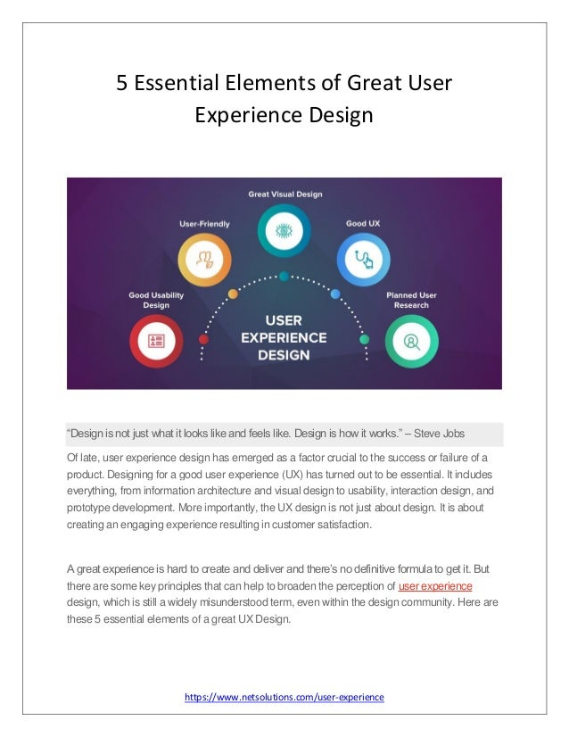 5 Essential Elements Of Great User Experience Design