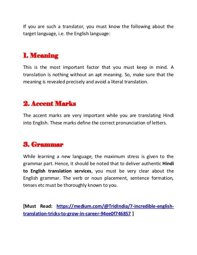 5 Essential Hindi To English Translation Tips For A Translator