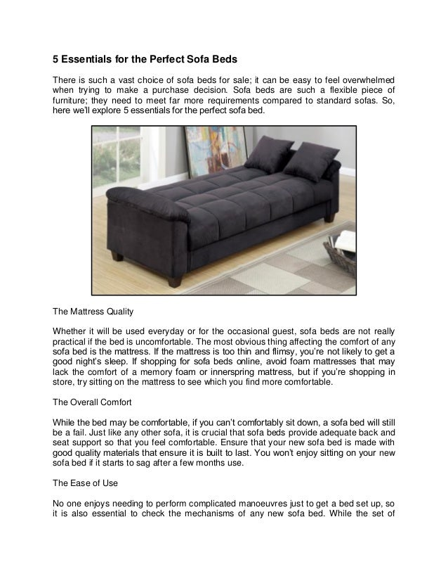 5 essentials for the perfect sofa beds 1 638