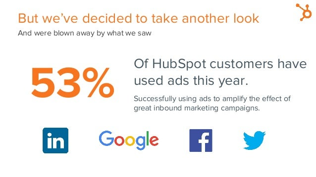 But we've decided to take another look And were blown away by what we saw Of HubSpot customers have used ads this year. Su...