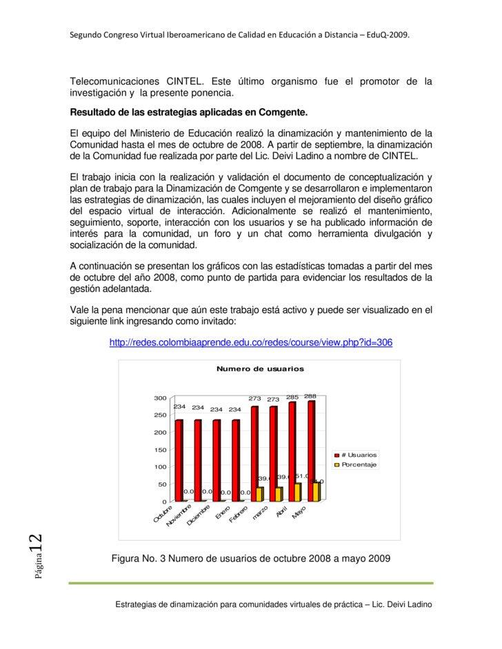 SegundoCongresoVirtualIberoamericanodeCalidadenEducaciónaDistancia–EduQ‐2009.               Telecomunicaciones...