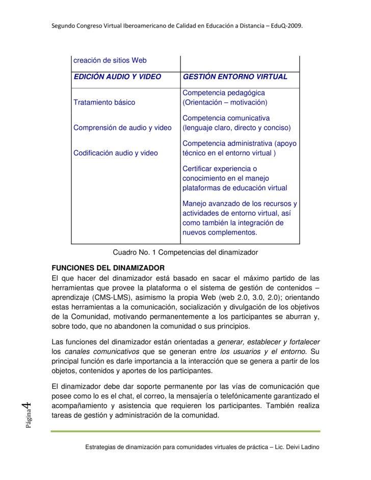 SegundoCongresoVirtualIberoamericanodeCalidadenEducaciónaDistancia–EduQ‐2009.                     creación de ...