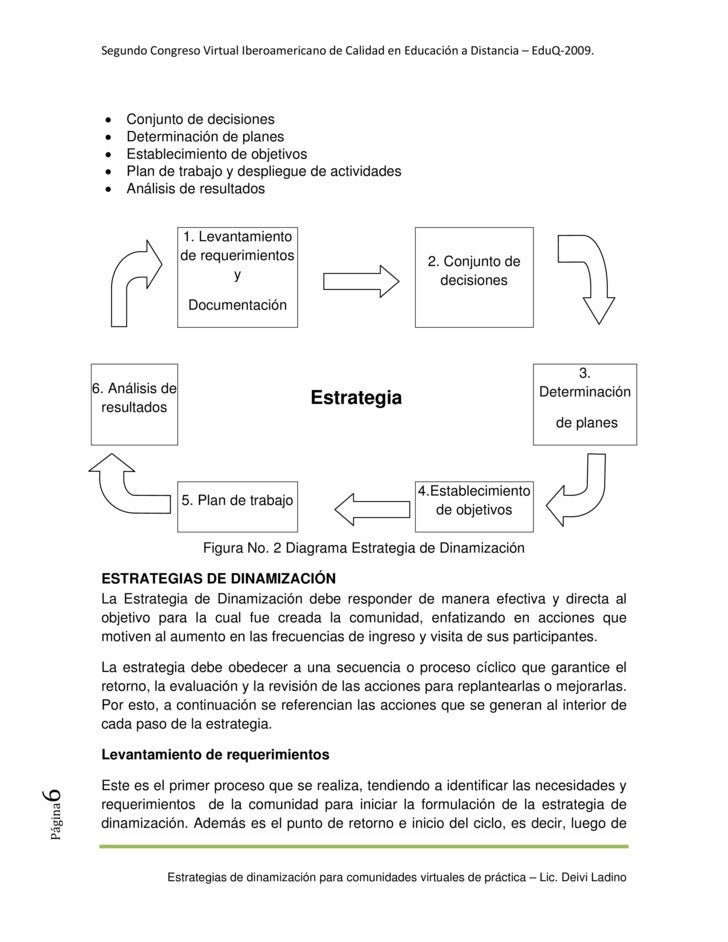 SegundoCongresoVirtualIberoamericanodeCalidadenEducaciónaDistancia–EduQ‐2009.                   •   Conjunto d...
