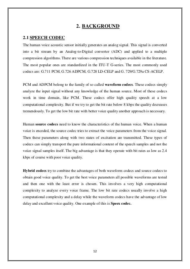 voice conversion thesis
