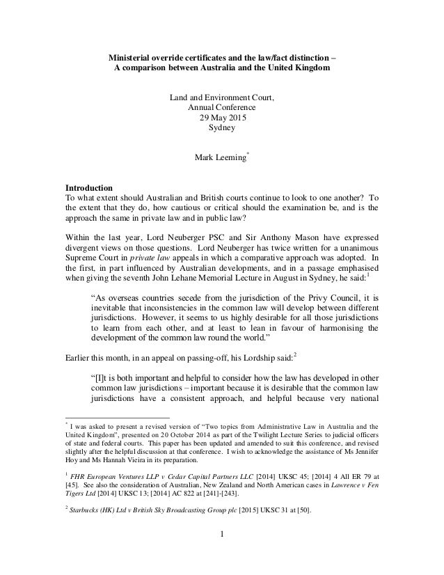 a comparison of australian law and customary law While customary law and the australian common law system operate in parallel in the torres strait islands, when there is a conflict between laws, the common law system prevails over customary law the common law system does not as yet recognize any customary laws before a court and, as such, it cannot be used by the indigenous islanders to.