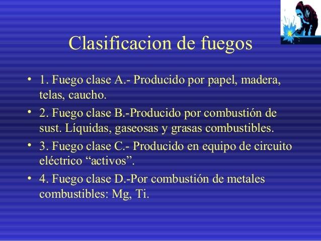 SELECCIÓN DE EXTINTORES SEGÚN LA CLASE DE FUEGO TIPO DE FUEGO  TIPO DE EXTINTORES  A  AGUA  X  POLVO QUÍMICO MULTIPROPÓSIT...
