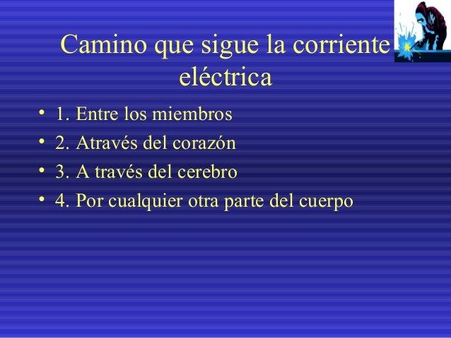 La gravedad del choque esta determinado por: • • • •  1. Por la cantidad de corriente 2. Por la resistencia que ofrece el ...
