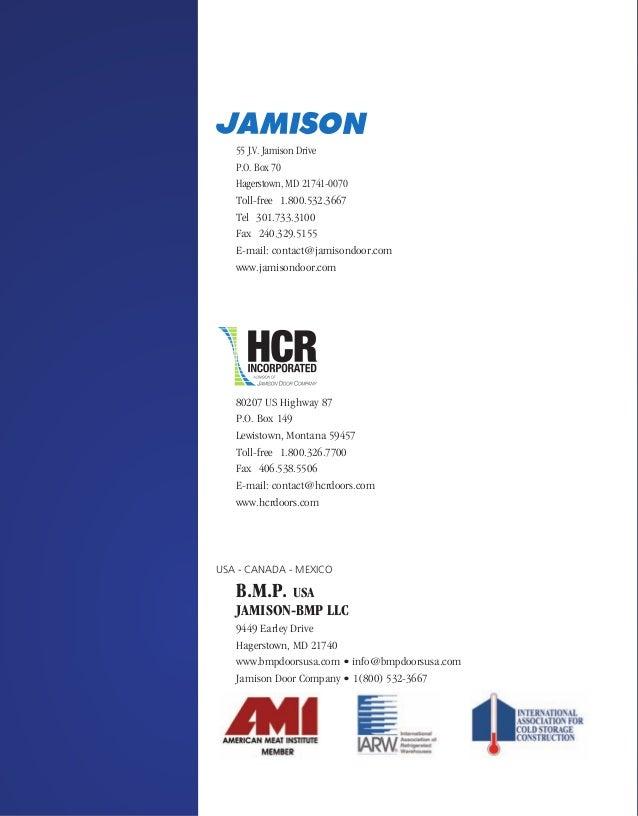The World Leader in Cold Storage Doors; 44. 55 J.V. Jamison ...  sc 1 st  SlideShare & Jamison Door Company Catalog