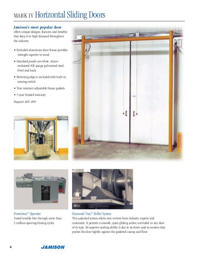 6. 4 MARK IV HorizontalSlidingDoors Jamison\u0027s most popular door ...  sc 1 st  SlideShare & Jamison Door Company Catalog