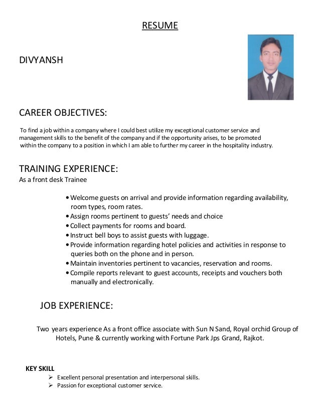 mr  divyansh resume